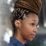 Nice big bun with braids in Cape Town, South Africa