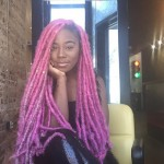 Amazing long pink locs hairstyles