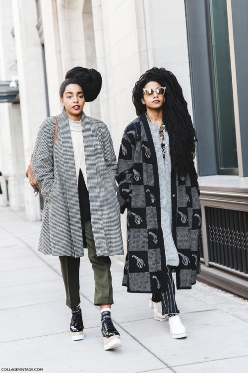 Street Style Esthétique : long coats, natural hairstyles...