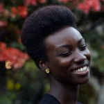 Beautiful smile with short natural hairstyle