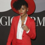 Janelle Monae all in red
