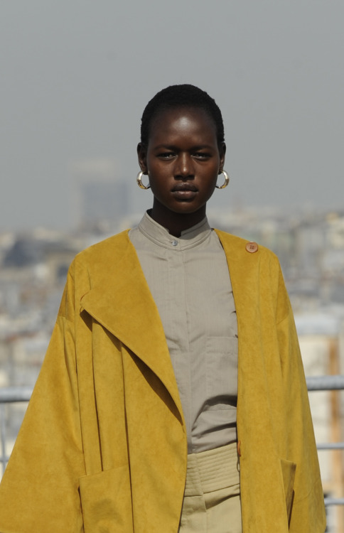 Ajak Deng for Christophe Lemarie Haute Couture