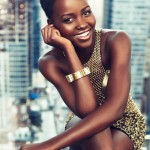 Lupita Nyong'o in gold for Paris Match