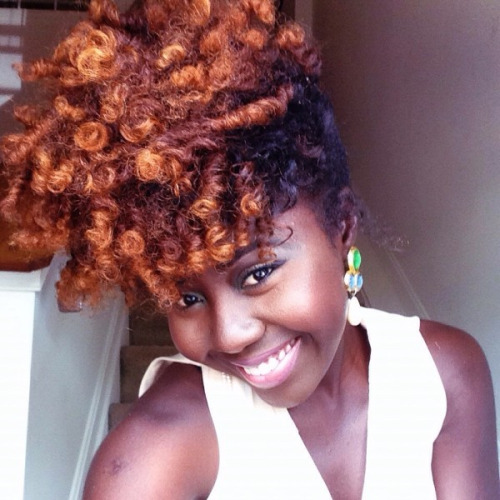 Nice copper coily (type 4) natural hairstyle