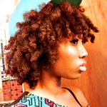 Natural red coily afro swag with cap !