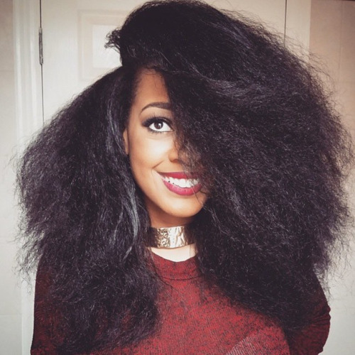Gorgeous natural straight hair