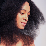 Solange Knowles beautiful face and natural hairstyle