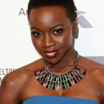 Danai Gurira short natural hairstyle and nice necklace