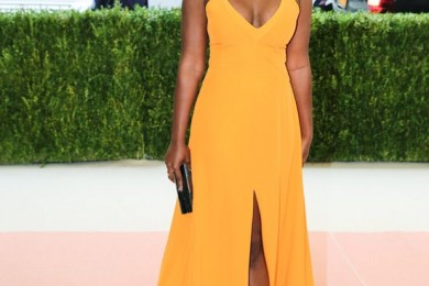 Aja Naomi King dress at Met Gala 2016
