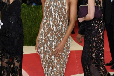 Ciara dress grey hairstyle at Met Gala 2016