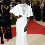 Danai Gurira nice white dress at Met Gala 2016